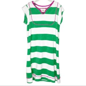 Girls Mini Boden Terry Cloth Striped Swim Cover Up